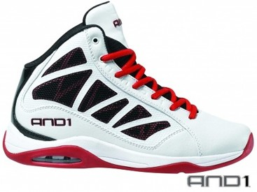 Boty AND1 Entourage Mid White/Red