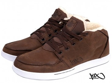 Boty K1X Mtp Le dark brown/white