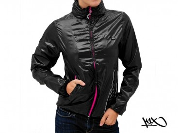 Bunda K1X Shorty Solid Windbreaker black/pink