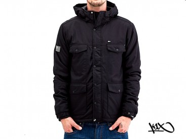 Bunda K1X Urban Hooded Full Zip MK6 black/white