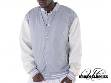 Bunda Urban Classics Light College grey/white