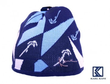 Čepice Karl Kani Mozaik Logo tm.modrá/sv.modrá/bílá