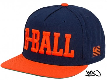 Kšiltovka K1X B-ball Snapback navy/orange