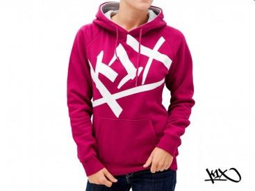 Mikina K1X Shorty At Large Tag burgundy/white