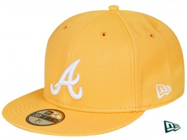 New Era Basic MLB Atlanta Braves Cap yellow/white