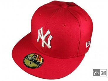 New Era MLB Basic NY Yankees Cap scarlet/white