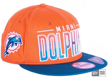 New Era Team Fade Miami Dolphins Snapback Cap