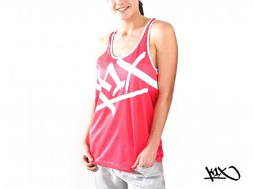 Tílko K1X Shorty Meshed Up Tear It Up neon pink/white