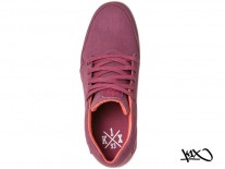 Boty K1X LP Low burgundy/white