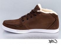 Boty K1X Mtp Le dark brown/white