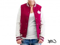 Bunda K1X Shorty Leaf Varsity burgundy/white