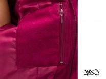 Bunda K1X Shorty Leaf Varsity burgundy/white