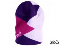 Čepice K1X Shorty Zaggamuffin fialová/růžová/bílá