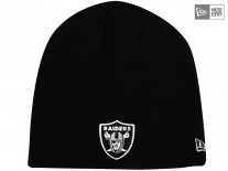 Čepice New Era Lic Skull Knit Oakland Raiders