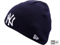 Čepice New Era Ribbed Knit NY Yankees team/white
