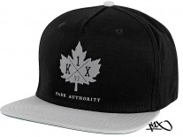 K1X Park Authority Snapback Cap black/grey