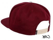 K1X Park Authority Snapback Cap red wine/light grey