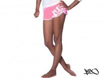 Kraťasy K1X Bootilicious Hot neon pink/white