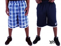 Kraťasy K1X Check It Out Reversible navy/blue check