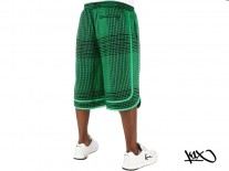 Kraťasy K1X Fade Check Reversible black/green