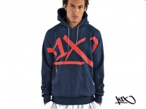 Mikina K1X Core Performance navy/red