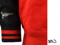 Mikina K1X Franchise Zipper chicago red/black