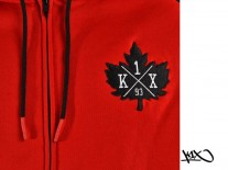 Mikina K1X Franchise Zipper chicago red/black
