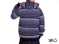 Mikina K1X Line Zipper navy/white