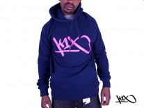 Mikina K1X Lux Tag navy/rose