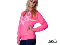 Mikina K1X Shorty At Large Tag pink/white