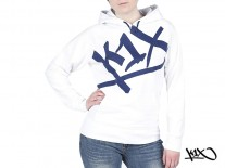 Mikina K1X Shorty At Large Tag white/navy