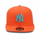 New Era Contrast NY Yankee Cap orange/blue