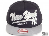 New Era Script Logo  NY Yankees Snapback Cap