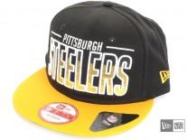 New Era Team Fade Pittsburgh Steelers Snapback Cap