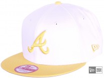 New Era White Pop Atlanta Braves Snapback Cap