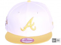 New Era White Pop Atlanta Braves Snapback Cap