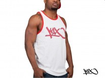 Tílko K1X Bootleg Tank Top white/red