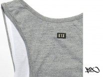 Tílko K1X Shorty Authentic Double Layer grey/white