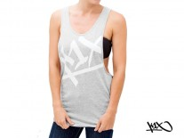 Tílko K1X Tear It Up Tank grey/white