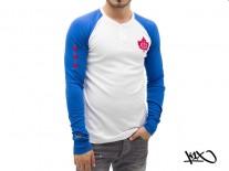 Triko K1X franchise henley bluw/white