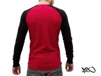 Triko K1X franchise henley red/black