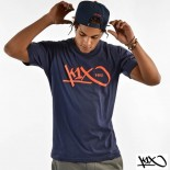 Triko K1X Grip Tag Tee navy/orange