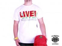 Triko Live Mechanics Live bílé